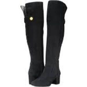 NWOT Nine West Queddy OTK Black Boots